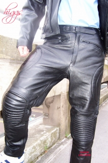 Higgs Leathers LAST FEW SAVE £40!  Magnate (men's Buffalo leather motorcycle trouse